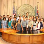 Gov. David Ige with TIP Summer 2015 interns, coordinators and project sponsors.