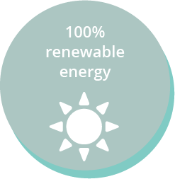 100% renewable energy