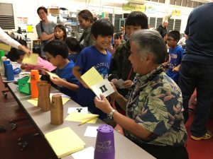 """Gov. Ige and students at Momilani's """"Everyone Can Code"""" event."""
