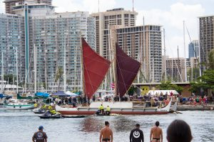 HOMECOMING: Thousands gathered June 17 to celebrate Hōkūleʻa's historic, worldwide voyage.
