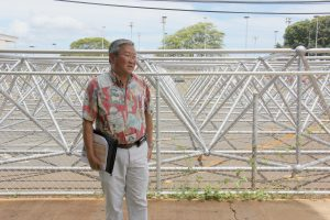 """DOE official Duane Kashiwai describes """"cooling tools"""" at Campbell High School."""