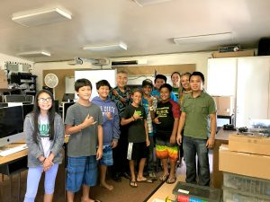 Moloka'i's Kualapu'u School robotics team, who took 2nd place in the 2017 VEX IQ World Championship against 272 teams from 30 countries.