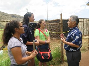 COOL SCHOOLS: Nanakuli High students interview the governor.