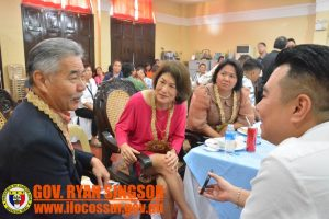 The Iges talk with Governor Singson and Consul General Gina Jamoralin.