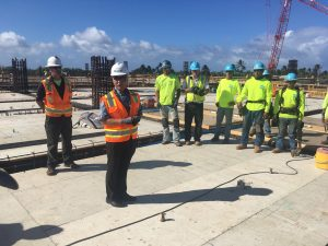Gov. Ige praises major progress on Maui at Kahului Airport's new Consolidated Rent-a-Car facility.
