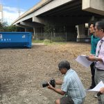 Governor Ige discusses the recent clean-up at the Nimitz Viaduct