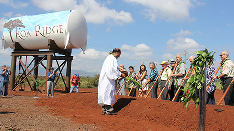 Ground breaking at Koa Ridge