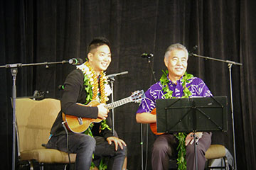Jake Shimabukuro and Governor Ige perform