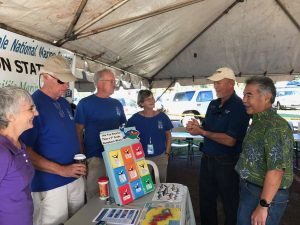 Various non-profits were on hand to support island residents