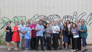 FAC 1st ANNIVERSARY: Celebrating with homelessness team leaders and service providers in Kaka'ako.