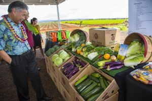 Gov. Ige has set a goal of doubling local food production with the help of high-tech agriculture tools.