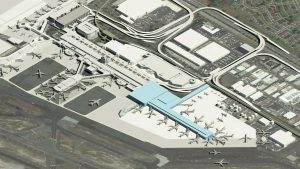 A rendering of the new concourse planned for the Daniel K. Inouye Airport.