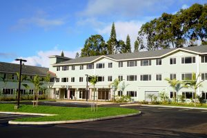 An architect's rendering of Meheula Vista, an affordable senior rental housing project in Mililani.
