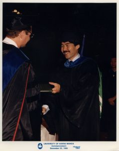 governor Ige receiving his MBA at UH graduation