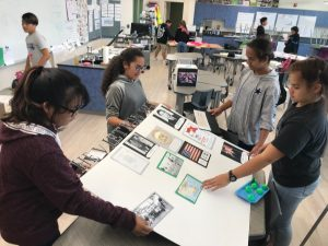 Waimea Middle students on Hawai'i island in their new state-of-the-art Learning Center