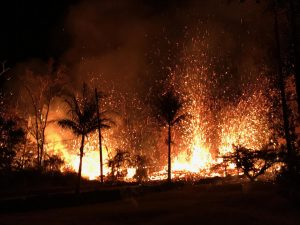 On the Big Island, lava fountains as high as 230 feet erupted from fissures in Leilani Estates subdivision.