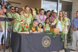 """Family and supporters gather for """"Kaulana's Bill."""""""