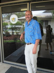 Director Hakim Ouansafi at the HPHA offices
