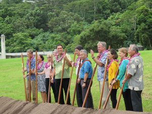 Gov. Ige, legislators and state officials at the new psychiatric facility site.