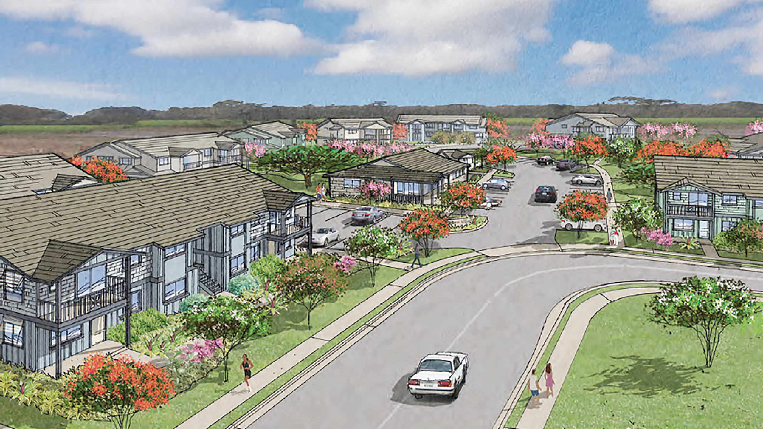 Rendering of Kaiwahine Village project.