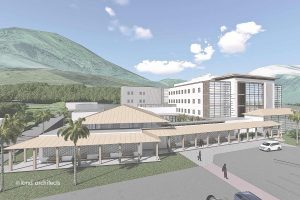 A rendering of the planned secure psychiatric facility.