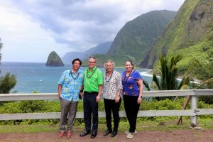 - New WiFi hotspots -- from Moloka'i's remote Kalaupapa area to community gathering places -- are available statewide, thanks to a DCCA agreement with Spectrum. DCCA director Catherine Awakuni (far right) and other officials made the trip to Kalaupapa.