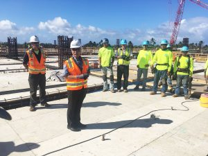 Work is continuing on the Kahului Airport Consolidated Rental Car facility on Maui.