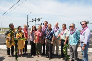 State, county and Goodfellow Bros. officials were all smiles at the Queen Ka'ahumanu Highway dedication on Hawai'i island.
