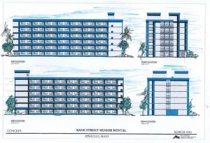- Rendering of a Maui affordable housing project near the Kahului Civic Center bus hub.