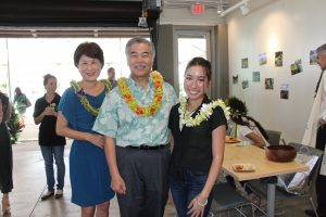 Governor and Mrs. Ige with Outstanding Intern Maia Mayeshiro.