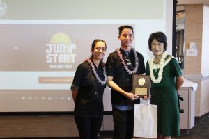 "Pearl City High students Ashlynn Saffery and Mikah Takayesu placed first in the ""savory"" category for their breakfast burrito."