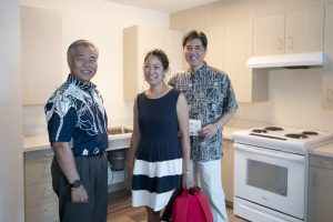 The Ige housing team, including Sara Lin and Kent Miyasaki, toured Hale Kewalo.