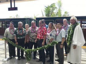 Governor Ige and Maui leaders gather at the blessing for the new Conrac.