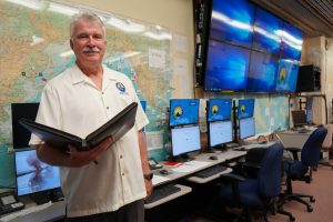 HI-EMA administrator Tom Travis in the State Emergency Operations Center.