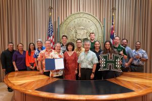 TEAM SPIRIT: UH Mānoa and UH Hilo athletics received increased funding support, as well as UH Cancer Center research and the Pamantasan Council to increase Filipino student enrollment in the UH system.