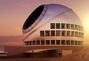 A rendering of the Thirty Meter Telescope project.