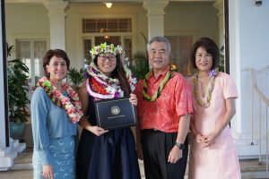 CC Chung with DOE Superintendent Christina Kishimoto and Governor and Mrs. Ige.