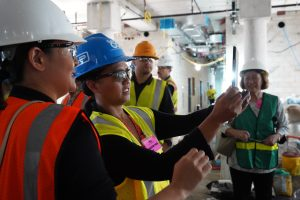 Legislators tour the new Hawai'i State Hospital facility under construction in Kāneʻohe.