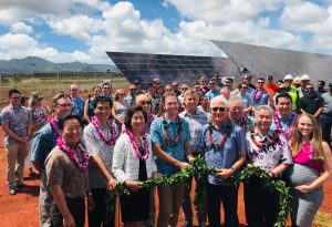 Advocates for clean energy turned out for the HECO - Clearway solar blessing.