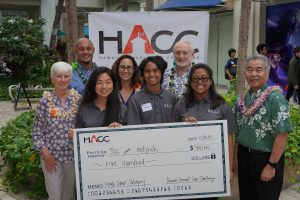 Co-winner Waipahu High's Netjxrk team for its sustainable education solution.