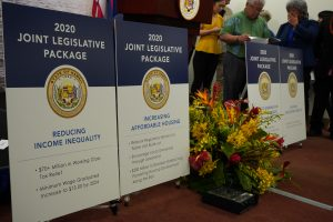 Posters describing the 2020 Joint Legislative Package.
