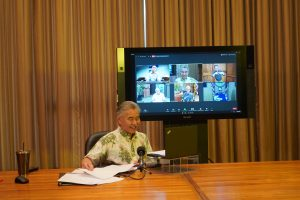 Gov. Ige hosts the four mayors on ZOOM