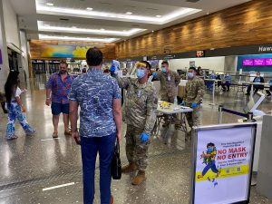 Temperature checks, masks and a new interisland form are required for travelers.