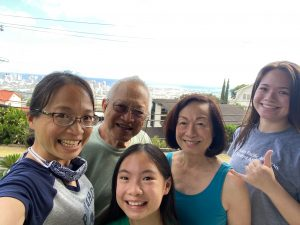 """Californians Cari Pang Chen and her daughter rejoin their 'ohana after their successful """"Quarantine Adventure."""""""
