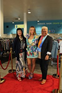"Goodwill's popular ""Goodwill Goes Glam"" moved to a KGMB-TV edition, hosted by McKenna Maduli (center) with designers Anne Namba and Kini Zamora."