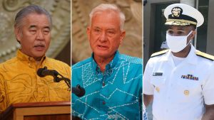 """Governor Ige, Mayor Caldwell and U.S. Surgeon General Adams announce """"surge testing."""""""