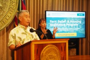 Governor Ige explains the new Rent Relief & Housing Assistance Program.