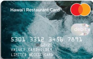 A close-up of the Hawai'i Restaurant Card.
