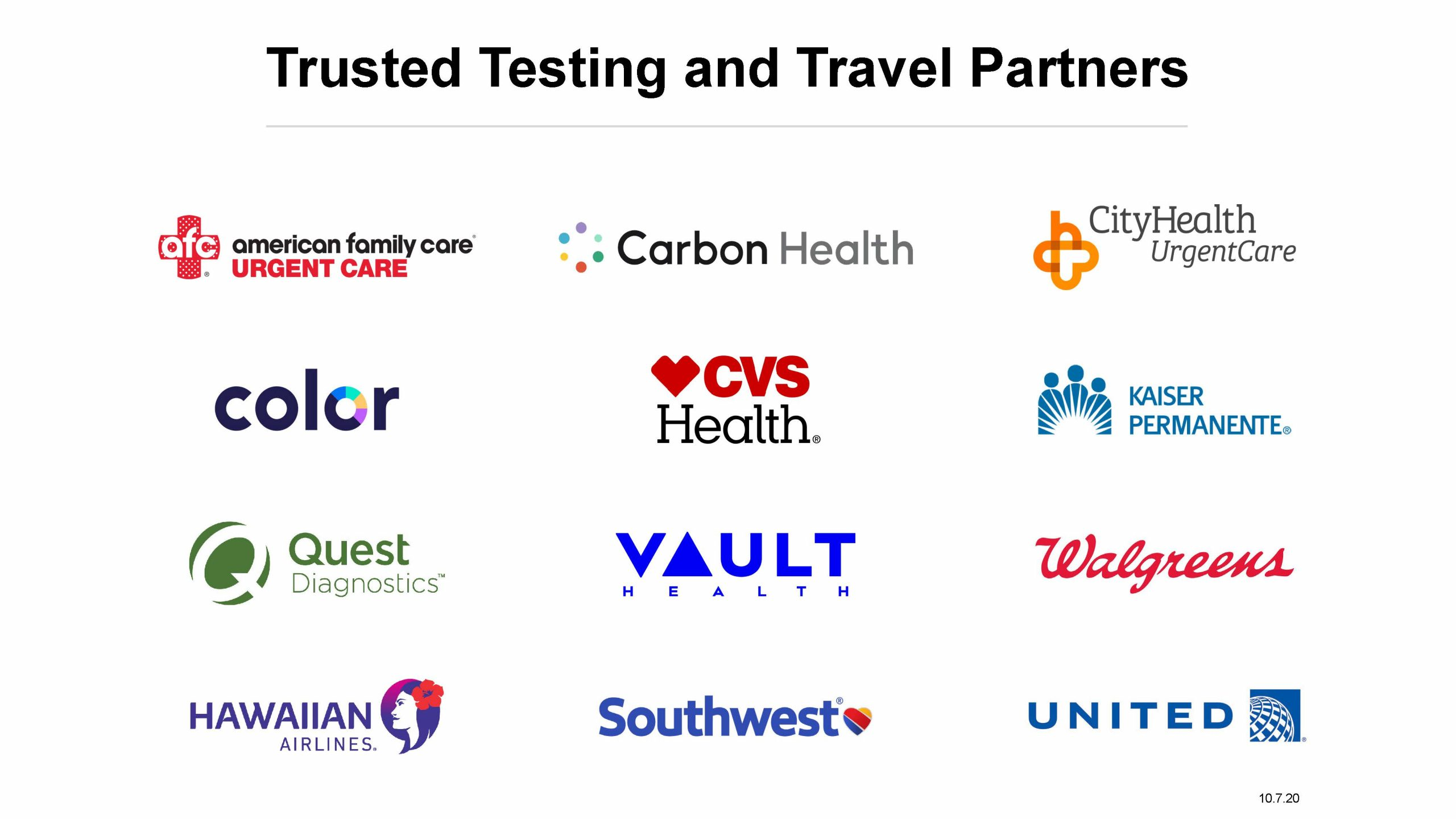 David Y Ige Governor S Office News Release Gov Ige Announces Trusted Testing And Travel Partners For Covid 19 Pre Travel Testing Program That Starts October 15