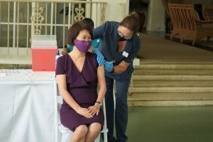 First Lady Vaccinated